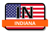 Indiana State Flags Stickers