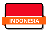 Indonesia State Flags Stickers