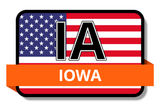Iowa State Flags Stickers