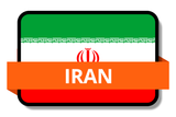 Iran State Flags Stickers
