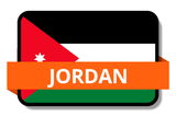Jordan State Flags Stickers