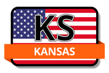 Kansas State Flags Stickers
