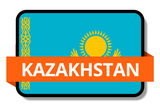 Kazakhstan State Flags Stickers