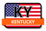 Kentucky State Flags Stickers