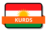 Kurds State Flags Stickers