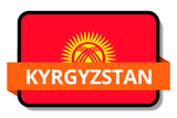 Kyrgyzstan State Flags Stickers