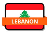 Lebanon State Flags Stickers