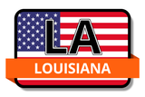 Louisiana State Flags Stickers