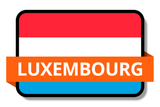 Luxembourg State Flags Stickers