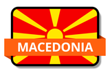 Macedonia State Flags Stickers