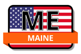 Maine State Flags Stickers