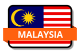 Malaysia State Flags Stickers