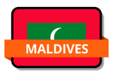 Maldives State Flags Stickers
