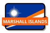 Marshall Islands State Flags Stickers