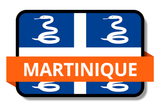 Martinique State Flags Stickers