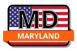 Maryland State Flags Stickers