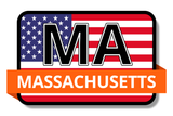 Massachusetts State Flags Stickers