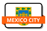 Mexico City State Flags Stickers