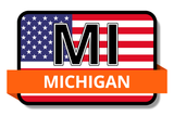 Michigan State Flags Stickers