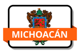 Michoacán State Flags Stickers