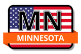 Minnesota State Flags Stickers