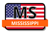 Mississippi State Flags Stickers