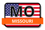 Missouri State Flags Stickers