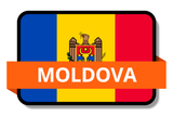 Moldova State Flags Stickers