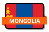 Mongolia State Flags Stickers