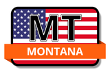 Montana State Flags Stickers