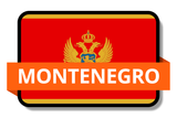 Montenegro State Flags Stickers