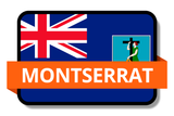 Montserrat State Flags Stickers