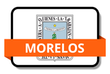 Morelos State Flags Stickers