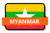 Myanmar State Flags Stickers