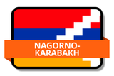 Nagorno-Karabakh State Flags Stickers
