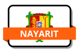 Nayarit State Flags Stickers