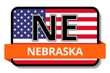 Nebraska State Flags Stickers