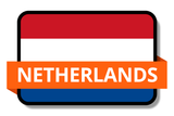 Netherlands State Flags Stickers