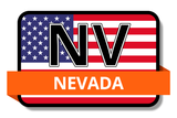 Nevada State Flags Stickers