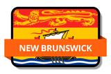 New Brunswick NB Online Stickers (Label) Shop Auto Car LandsAndPoeple.com