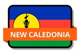 New Caledonia State Flags Stickers