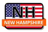 New Hampshire State Flags Stickers