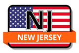 New Jersey State Flags Stickers