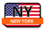 New York State Flags Stickers