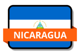Nicaragua State Flags Stickers
