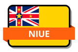 Niue State Flags Stickers