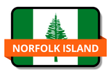 Norfolk Island State Flags Stickers