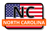 North Carolina State Flags Stickers