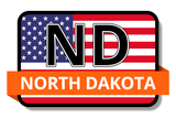 North Dakota State Flags Stickers