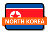 North Korea State Flags Stickers